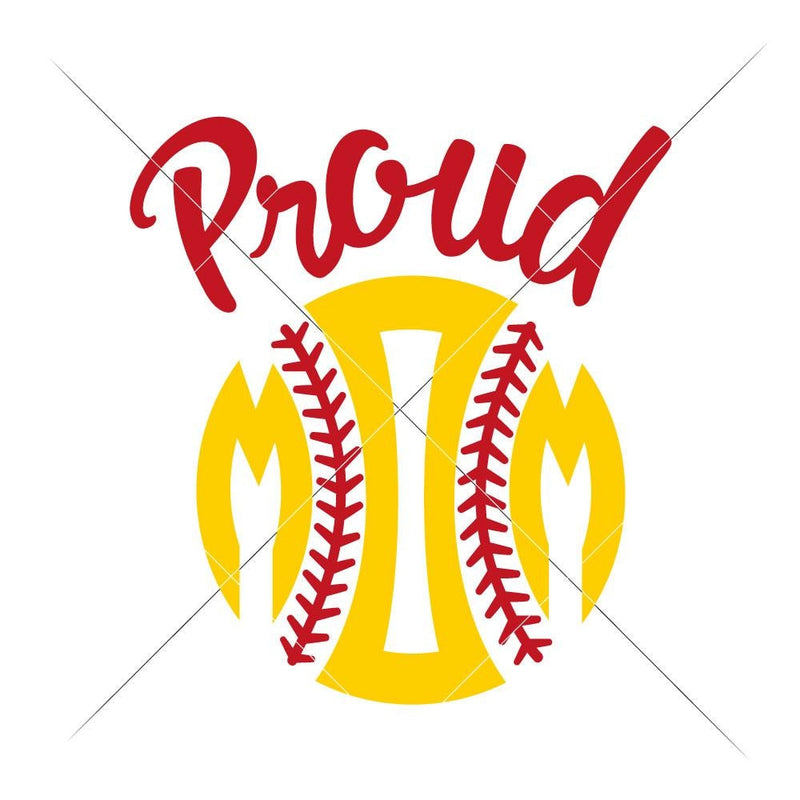 Proud Softball Mom Svg Png Dxf Eps Svg Dxf Png Cutting File