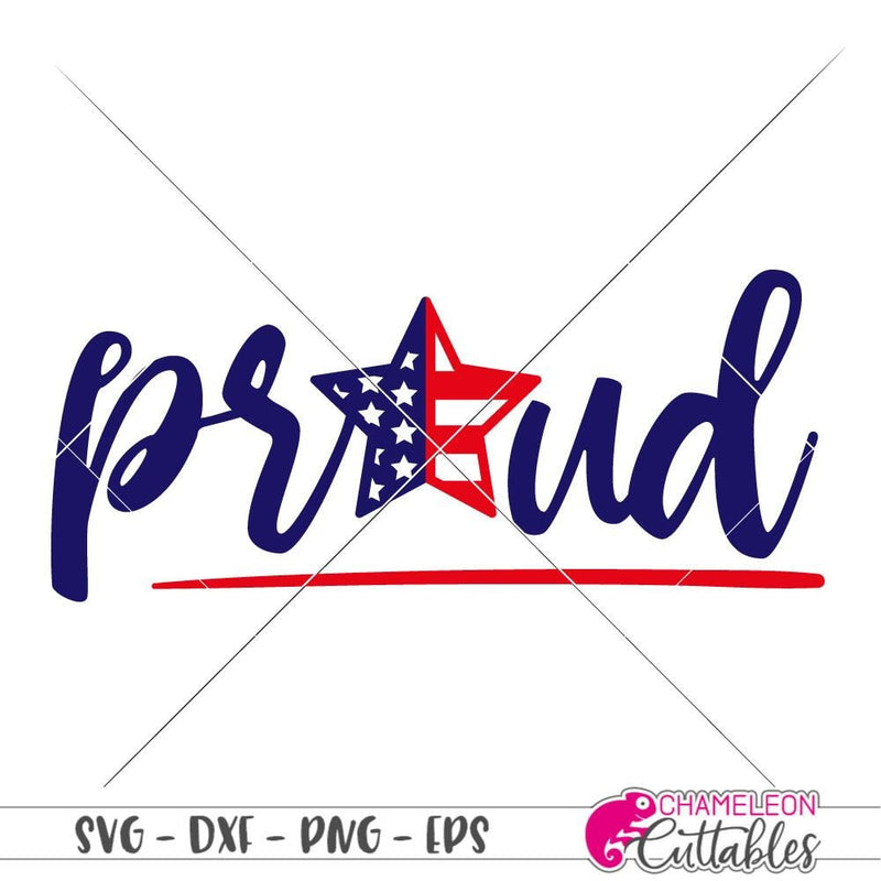 Proud star patriotic svg png dxf eps SVG DXF PNG Cutting File