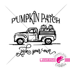 Pumpkin Patch Truck svg png dxf eps jpeg SVG DXF PNG Cutting File