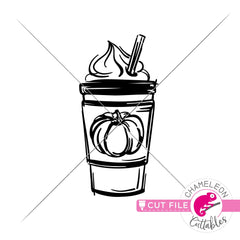 Pumpkin Spice Latte sketch svg png dxf eps jpeg SVG DXF PNG Cutting File