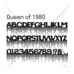 Queen of 1980 FONT (.otf) SVG DXF PNG Cutting File