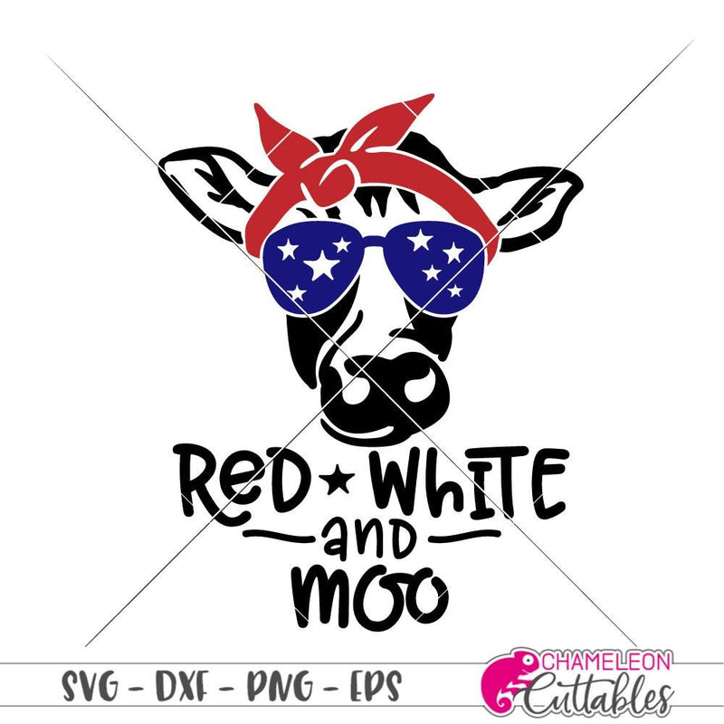 Red White And Moo Svg Png Dxf Eps Svg Dxf Png Cutting File