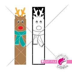 Reindeer Christmas porch sign vertical svg png dxf SVG DXF PNG Cutting File