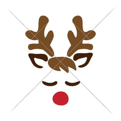 Reindeer Face Boy Svg Png Dxf Eps Svg Dxf Png Cutting File