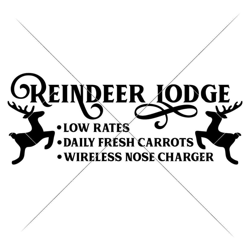 Reindeer Lodge Svg Png Dxf Eps Svg Dxf Png Cutting File