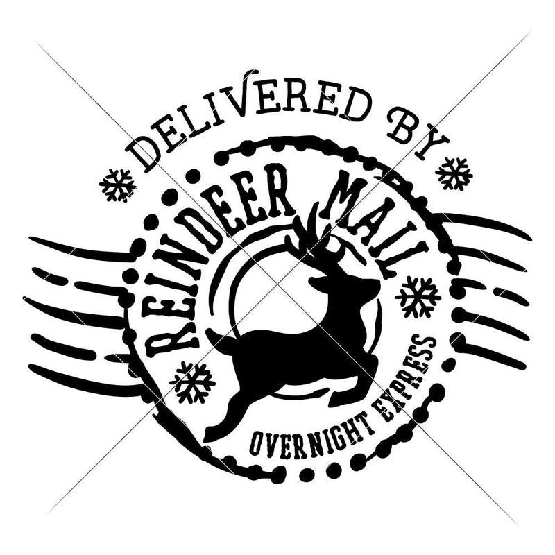 Reindeer Mail Svg Png Dxf Eps Svg Dxf Png Cutting File