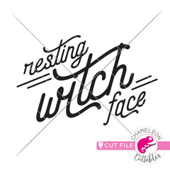 Resting Witch Face Halloween svg png dxf eps jpeg SVG DXF PNG Cutting File
