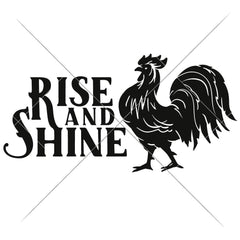 Rise And Shine Horizontal Svg Png Dxf Eps Svg Dxf Png Cutting File