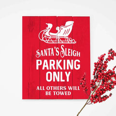 Santas Sleigh Parking Only Svg Png Dxf Eps Svg Dxf Png Cutting File