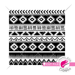 Seamless Aztec Pattern Tribal svg png dxf eps jpeg SVG DXF PNG Cutting File