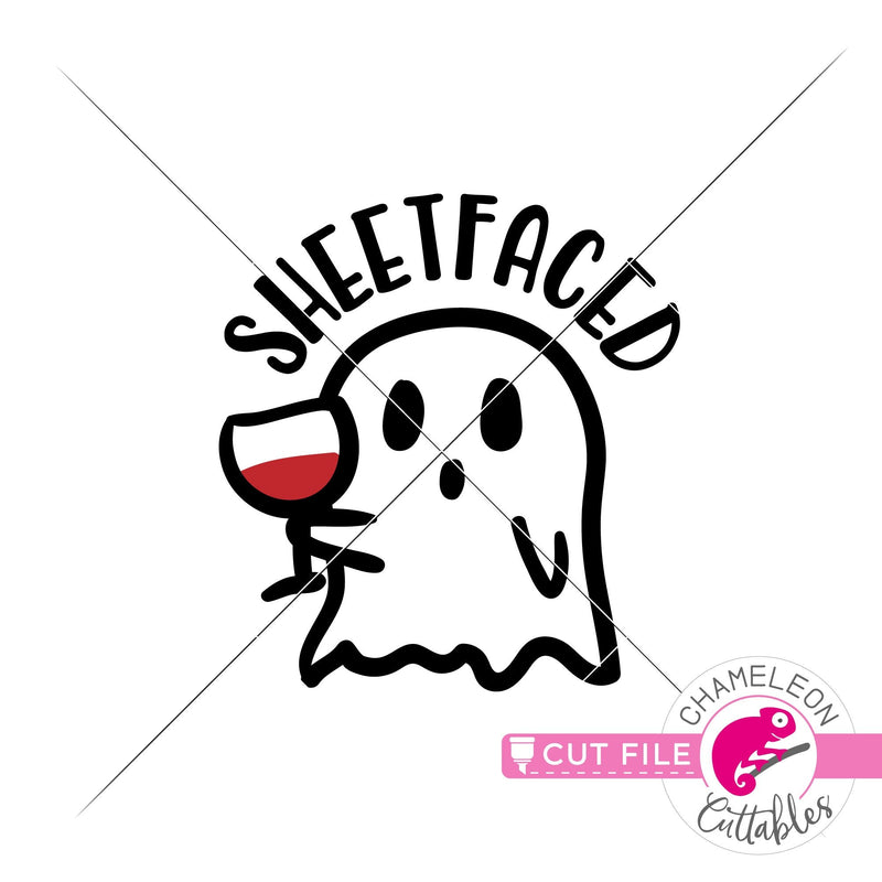 Sheetfaced Halloween Ghost svg png dxf eps jpeg SVG DXF PNG Cutting File