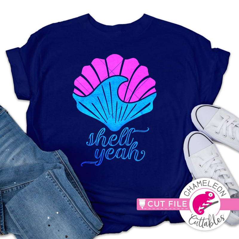 Shell Yeah sea shell wave svg png dxf eps jpeg SVG DXF PNG Cutting File