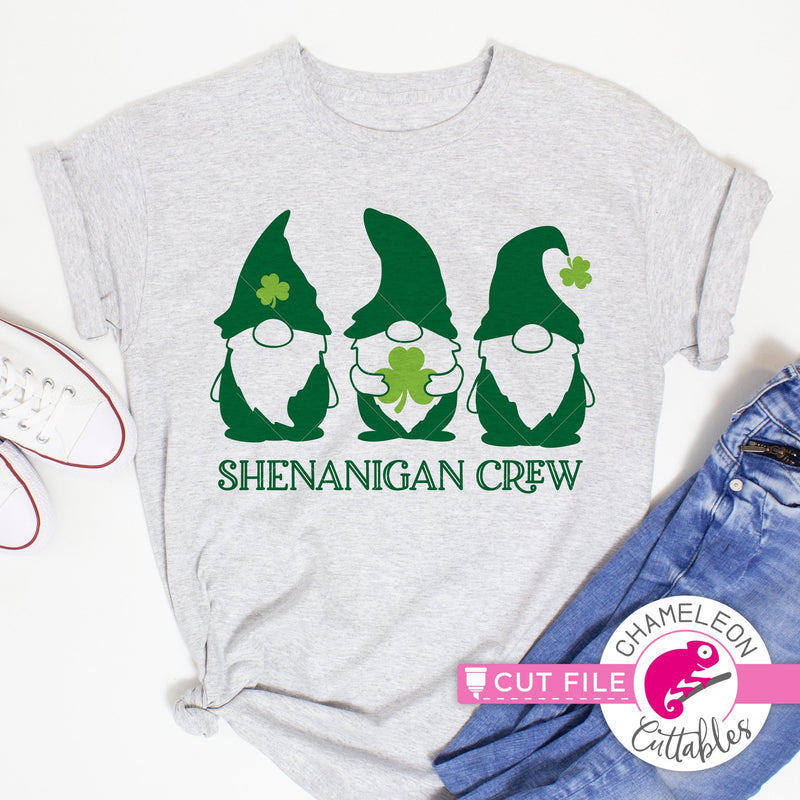 Shenanigan Crew Gnomes St. Patricks Day svg png dxf eps jpeg SVG DXF PNG Cutting File