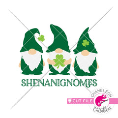 Shenanignomes Gnomes St. Patricks Day svg png dxf eps jpeg SVG DXF PNG Cutting File
