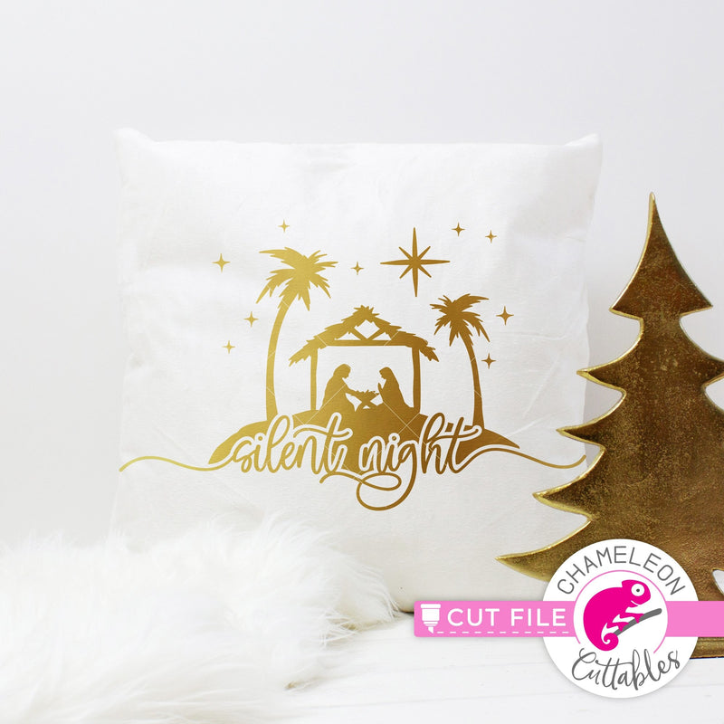Silent Night Nativity Scene svg png dxf eps jpeg SVG DXF PNG Cutting File