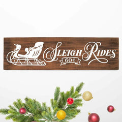 Sleigh Rides Horizontal Svg Png Dxf Eps Svg Dxf Png Cutting File