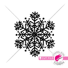 Snowflake Mandala 1 svg png dxf eps jpeg SVG DXF PNG Cutting File