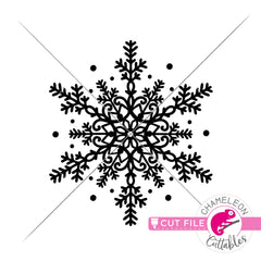 Snowflake Mandala 2 svg png dxf eps jpeg SVG DXF PNG Cutting File