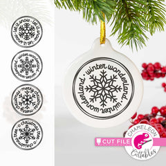 Snowflake Ornament Bundle svg png dxf eps jpeg SVG DXF PNG Cutting File