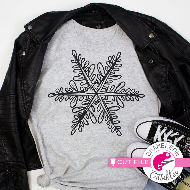 Snowflake Sketch 1 svg png dxf eps jpeg SVG DXF PNG Cutting File