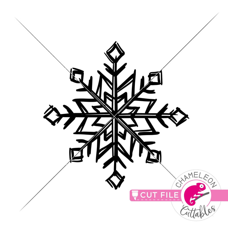 Snowflake Sketch 2 svg png dxf eps jpeg SVG DXF PNG Cutting File