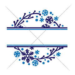 Snowflake Split Design Svg Png Dxf Eps Svg Dxf Png Cutting File