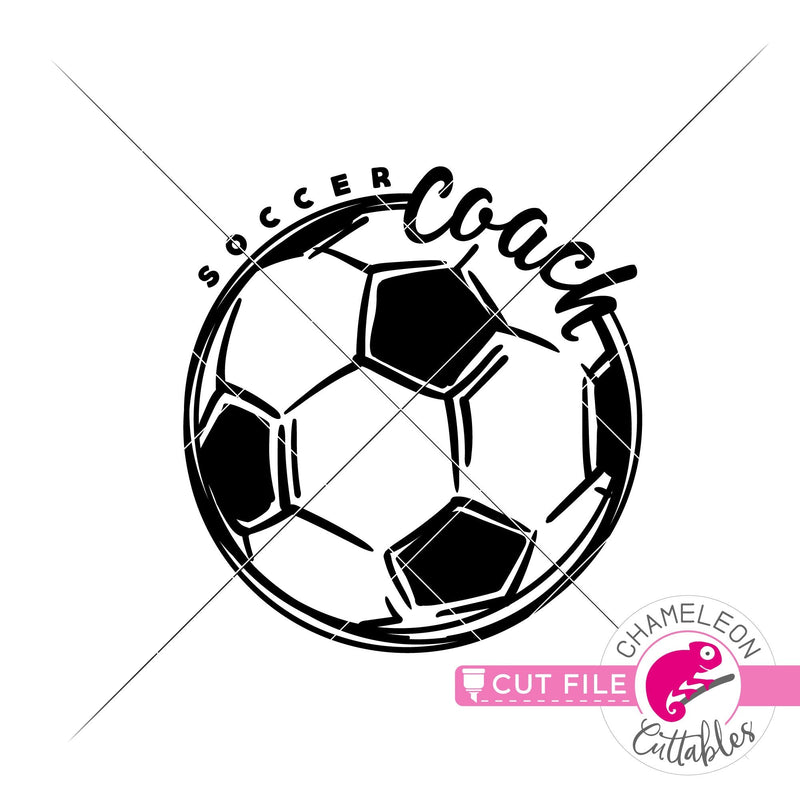 Soccer Coach Sketch Drawing svg png dxf eps jpeg SVG DXF PNG Cutting File