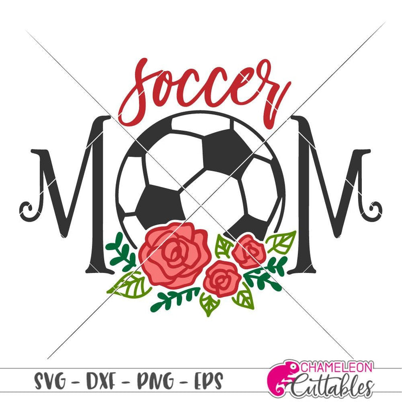 Soccer Mom with Flowers svg png dxf eps SVG DXF PNG Cutting File