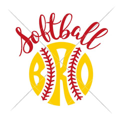 Softball Bro Svg Png Dxf Eps Svg Dxf Png Cutting File