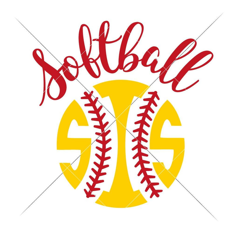 Softball Sis Svg Png Dxf Eps Svg Dxf Png Cutting File