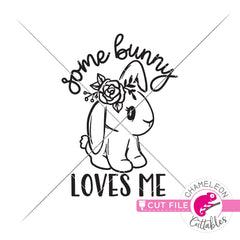 Some bunny loves me Easter svg png dxf eps jpeg SVG DXF PNG Cutting File