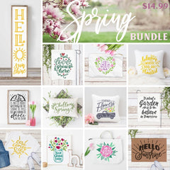 Spring Bundle Svg Dxf Png Cutting File