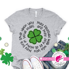 St. Patrick's Day lucky clover circle svg png dxf eps jpeg SVG DXF PNG Cutting File