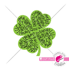 St. Patrick's Day lucky clover subway art svg png dxf eps jpeg SVG DXF PNG Cutting File