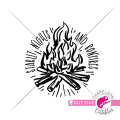 Starlit Nights and Bonfires svg png dxf eps jpeg SVG DXF PNG Cutting File