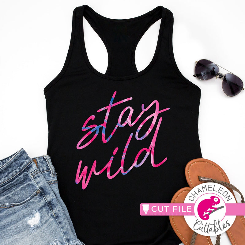 Stay wild script svg png dxf eps jpeg SVG DXF PNG Cutting File