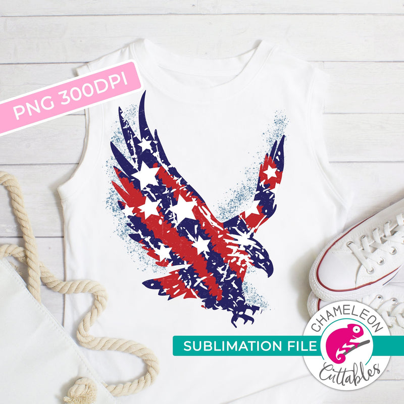 Sublimation design American eagle flag patriotic 4th of July PNG file Sublimation PNG