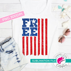 Sublimation design free american flag patriotic 4th of July PNG file Sublimation PNG