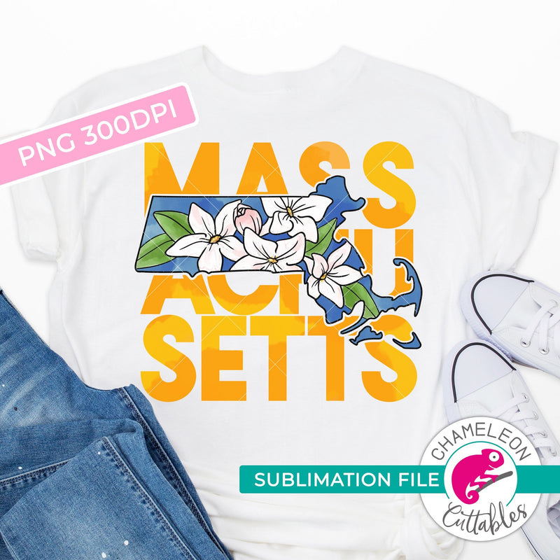 Sublimation design Massachusetts state flower mayflower yellow watercolor PNG file Sublimation PNG