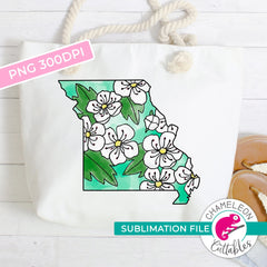 Sublimation design Missouri state flower hawthorn watercolor PNG file Sublimation PNG