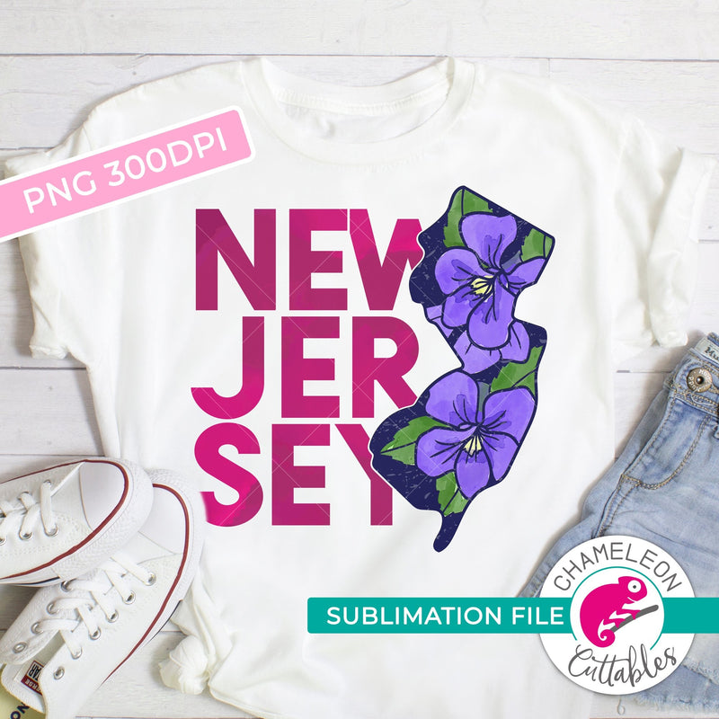 Sublimation design New Jersey state flower violet watercolor PNG file Sublimation PNG