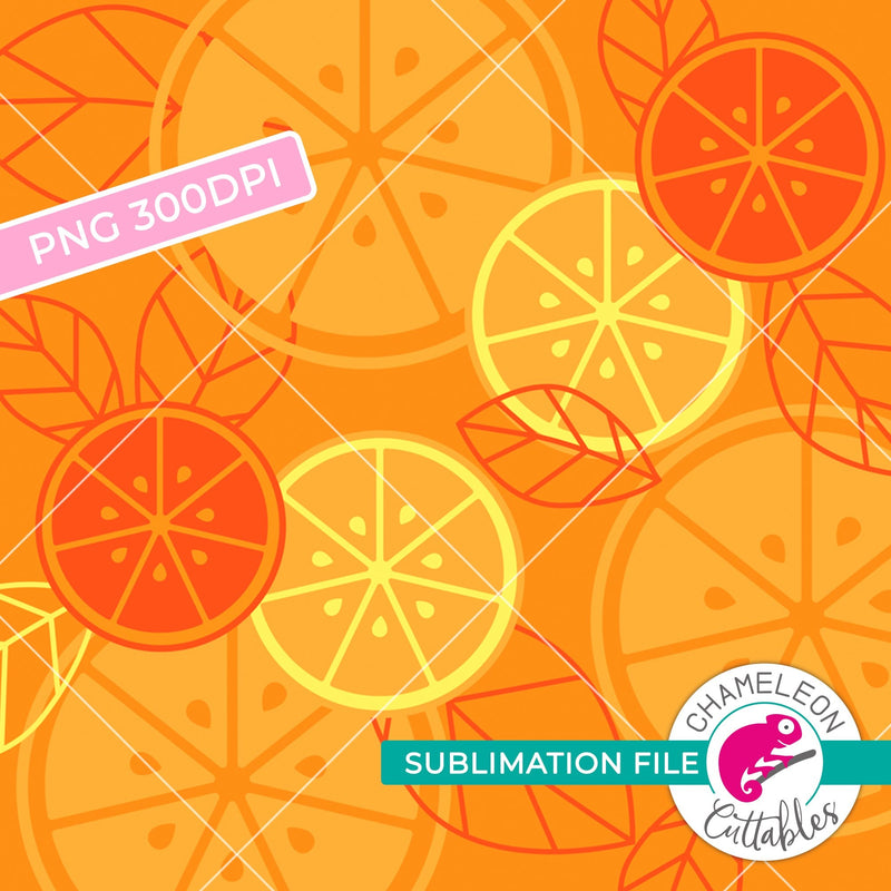 Sublimation design orange slice and citrus pattern PNG file Sublimation PNG