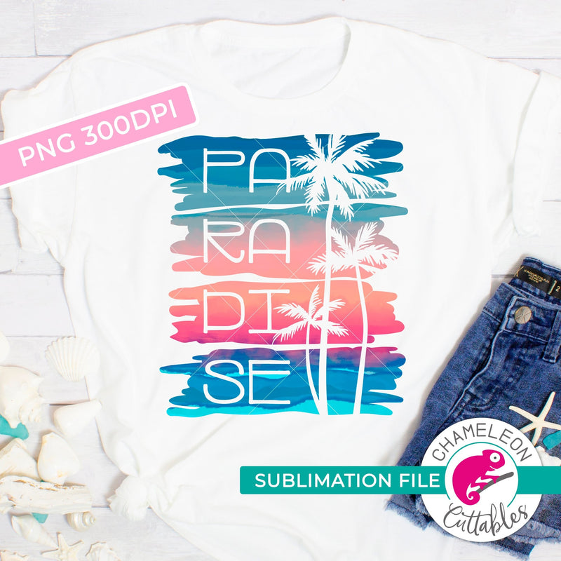 Sublimation design Paradise with palm trees PNG file Sublimation PNG
