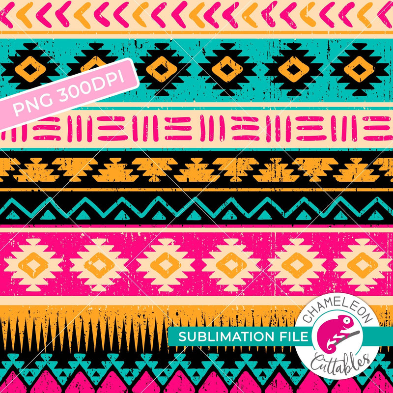 Sublimation design seamless Aztec pattern pink watercolor PNG file Sublimation PNG