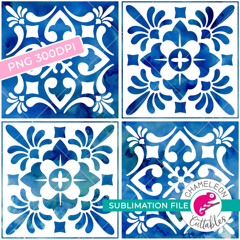Sublimation design seamless Mediterranean tile PNG file Sublimation PNG