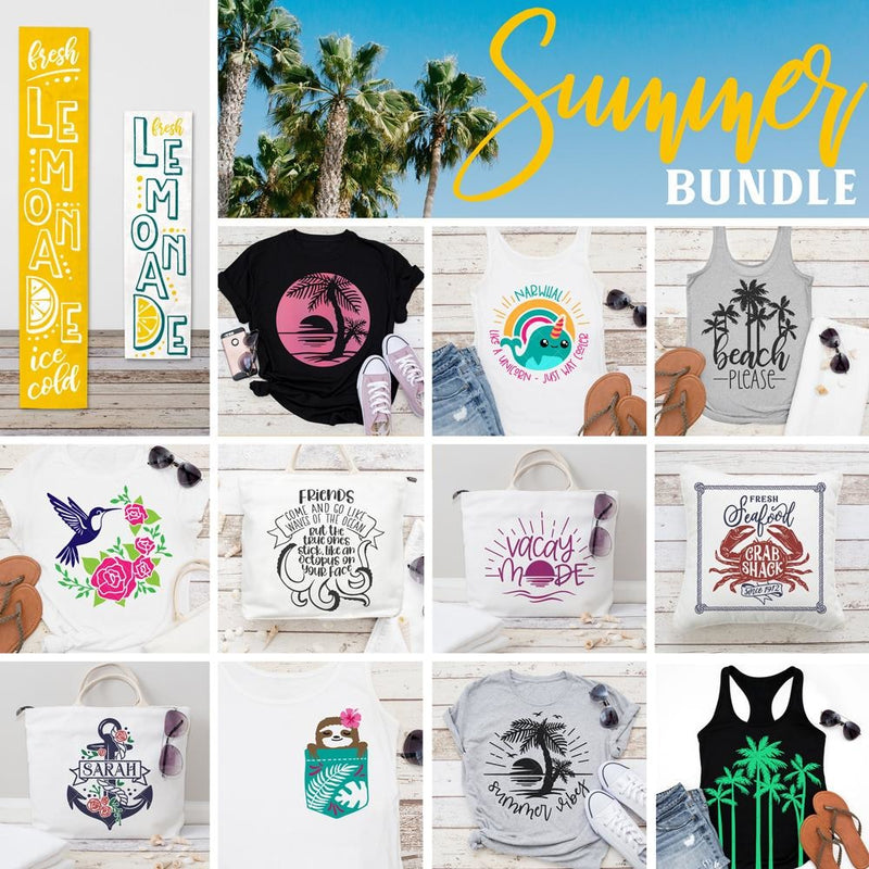 Summer Bundle SVG DXF PNG Cutting File