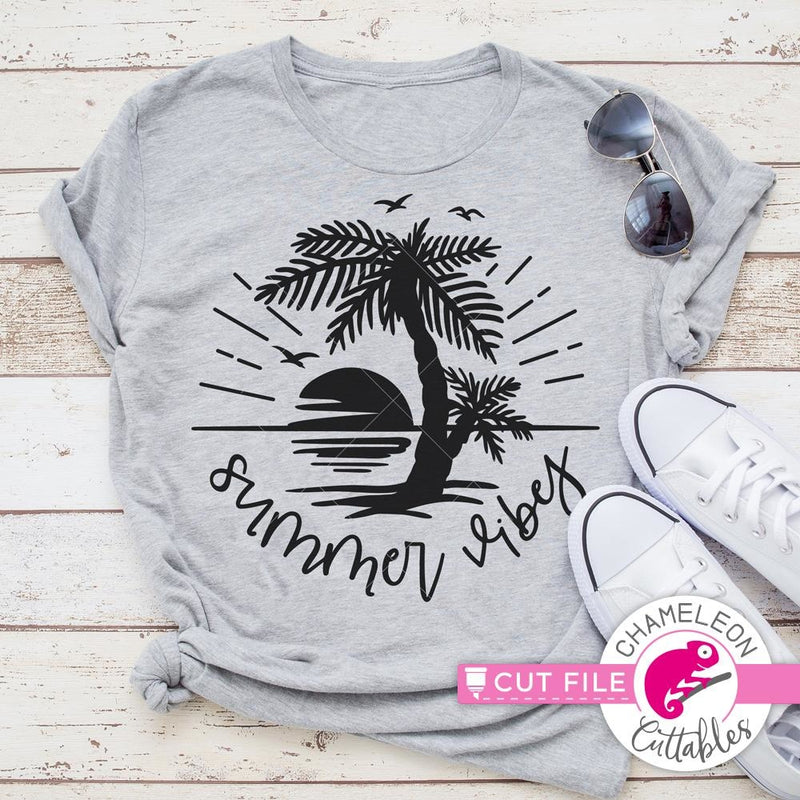 Summer Vibes Paradise svg png dxf eps SVG DXF PNG Cutting File