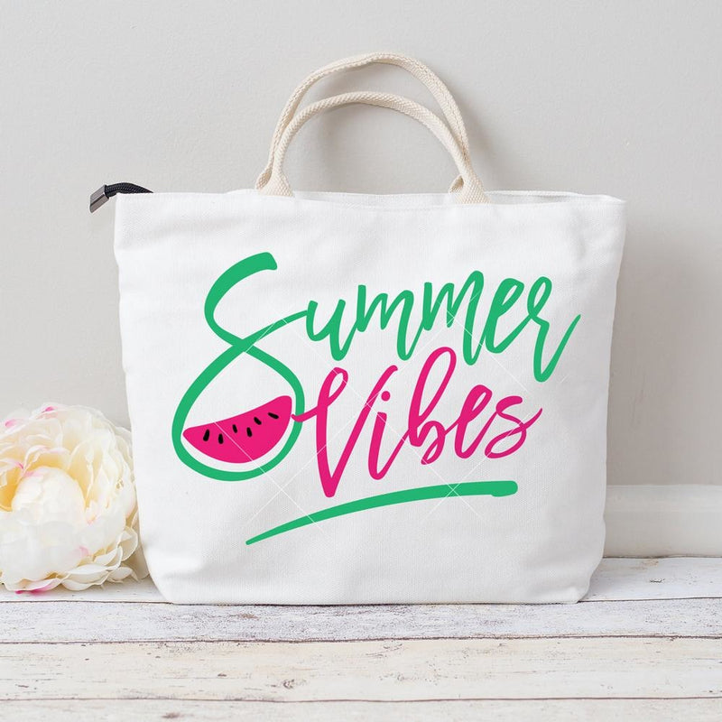 Summer Vibes Watermelon Svg Png Dxf Eps Svg Dxf Png Cutting File