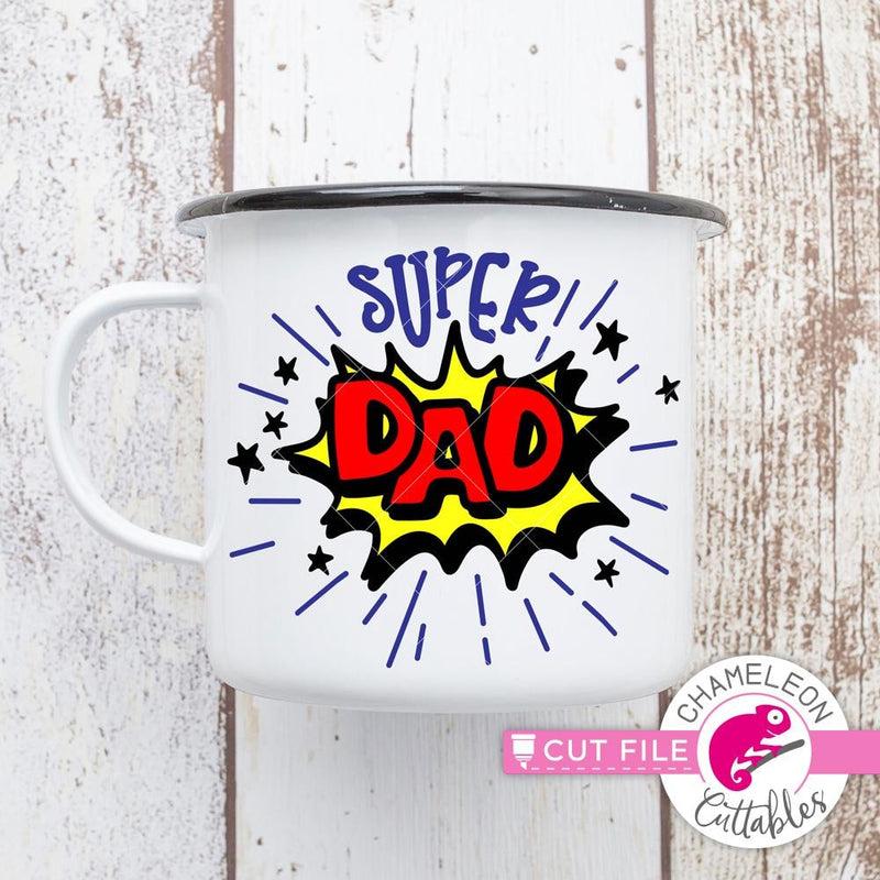 Super Dad layered svg png dxf eps SVG DXF PNG Cutting File