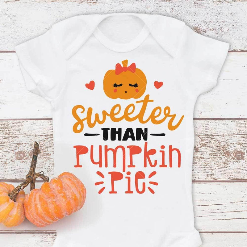 Sweeter Than Pumpkin Pie Svg Png Dxf Eps Svg Dxf Png Cutting File